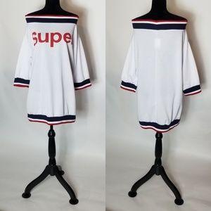 Off The Shoulder Sweatshirt Dress